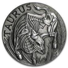 1 oz Silver Round Taurus - Zodiac Series #52682v3