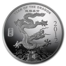 1/2 oz Silver Round -(2012 Year of the Dragon) #52596v3