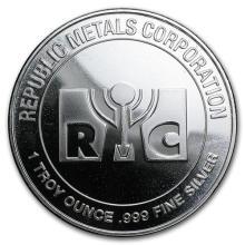 1 oz Silver Round - Republic Metals Corporation (RMC) #52552v3