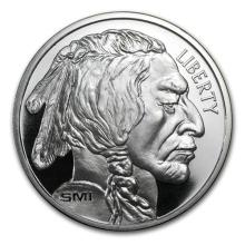 1 oz Silver Round - Buffalo (MintMark SI) #52553v3