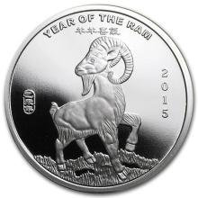 1/2 oz Silver Round -(2015 Year of the Ram) #52599v3