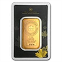 1 oz Royal Canadian Mint RCM Gold Bar .9999 Fine (In As #49637v1