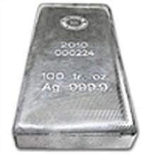100 oz Royal Canadian Mint RCM .9999 Fine Silver Bar #49716v1