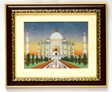 HAND MADE GEM STONE PANTING OF TAJ MAHAL #78112v1