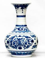 BEAUTIFUL FLORAL CHINESE PORCELAIN VASE #60272v1