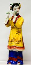 PORCELAIN CHINESE WOMAN PLAYING MUSIC #79856v1