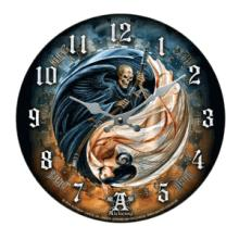 LIFE AND DEATH WALL CLOCK #70924v2