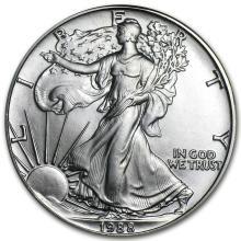 1988 1 oz Silver American Eagle BU #34378v2