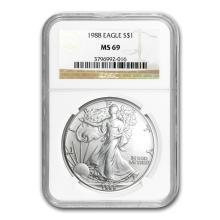 1988 Silver American Eagle MS-69 NGC #34424v2