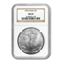1993 Silver American Eagle MS-69 NGC #34436v2