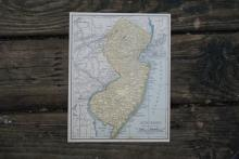 GENUINE AUTHENTIC 1930 MAP OF NEW JERSEY #70680v2