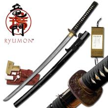HAND FORGED RYUMON SAMURAI SWORD W/ FOLDED A1S 1060 CAR #20127v2