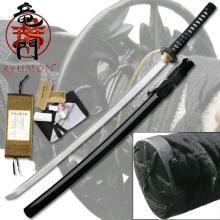 HAND FORGED RYUMON SAMURAI SWORD W/ FOLDED A1S 1060 HIG #20139v2