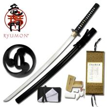 HAND FORGED RYUMON SAMURAI SWORD W/ FOLDED A1S 1060 CAR #20126v2