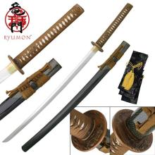 HAND FORGED RYUMON SAMURAI SWORD W/ FOLDED A1S 1060 HIG #20129v2