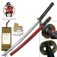 HAND FORGED RYUMON SAMURAI SWORD W/ FOLDED A1S 1060 HIG #20134v2