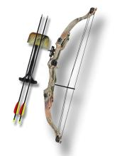 20LB CAMOUFLAGED COMPOUND TRAINING BOW COMES W/2 ARROWS #75206v2
