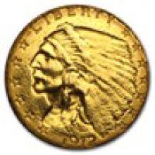 $2.50 Indian Gold Quarter Eagle (Cleaned) #17802v2