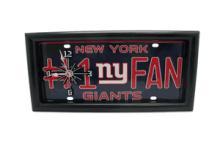 Giants License Plate Clock #71680v2