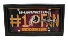 Redskins License Plate Clock #71679v2