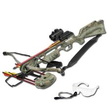 175LB CAMOUFLAGE CROSSBOW W/SHOULDER STRAP, ARROWS, AND #18285v2