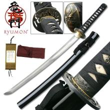 HAND FORGED RYUMON SAMURAI SWORD W/ FOLDED A1S 1060 CAR #20131v2