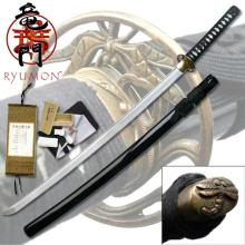 HAND FORGED RYUMON SAMURAI SWORD W/ FOLDED A1S 1060 HIG #20137v2