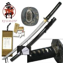HAND FORGED RYUMON SAMURAI SWORD W/ FOLDED A1S 1060 CAR #20132v2
