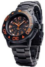 SMITH AND WESSON DIVER ORANGE WITH TRITUM WATCH METAL AND RUBBER STRAP #70772v2