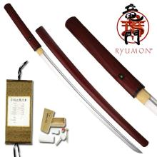 HAND FORGED RYUMON SAMURAI SWORD W/ FOLDED A1S 1060 HIG #20133v2