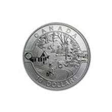2014 Canada 1/2 oz Silver $10 Holiday Scene (w/Box & COA) #48945v2