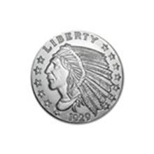 5 oz Silver Round - Incuse Indian #48977v2