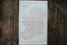 GENUINE AUTHENTIC 1901 MAP OF IRELAND #70763v2