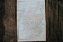 GENUINE AUTHENTIC 1901 MAP OF SCOTLAND #70764v2