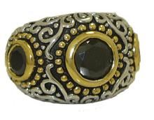 Mosaic Style Band Ring accented in 18kt Austrian Crystal #90264v2
