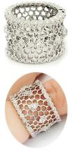Open Weave Wide Band Cz Ring #90428v2