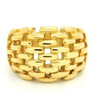 Gold Plated Knit Ring in 18 Karat Gold Plate #90418v2