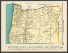 VINTAGE 1937 MAP OF OREGON #45465v2