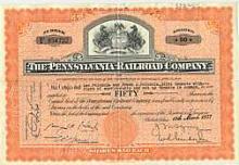 Pennsylvania Railroad Company Stock Certificate - Horse #34707v2