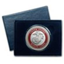 1 oz Silver Round - U.S. Marines (Enameled, w/Box & Capsule) #49016v2