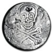 2.5 oz Silver Round - Skull & Crossbones #49013v2