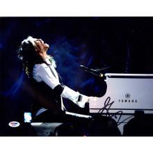 Steven Tyler Signed Playing White Piano 11x14 Photo (PSA/DNA) #49498v2