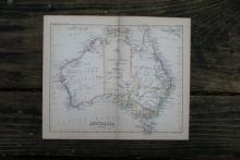 AUTHENTIC VINTAGE1888 - Australia Map #78087v2