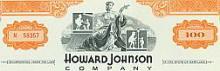 Howard Johnson 100 Share Stock Certificate #34708v2