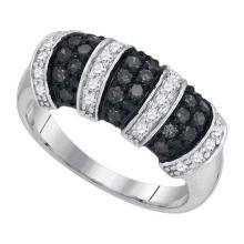 925 Sterling Silver White 0.75CTW DIAMOND FASHION RING #53309v2