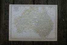Authentic Vintage 1928 - Australia Map #78006v2