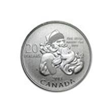 2013 Canada 1/4 oz Silver $20 Santa Claus (w/COA) #48901v2