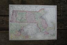 GENIUNE 1912 MAP OF MASSACHUSETSS #70647v2
