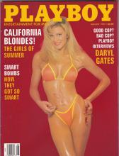 VINTAGE AUGUST 1991 PLAYBOY MAGAZINE - CALIFORNIA BLOND #46908v2