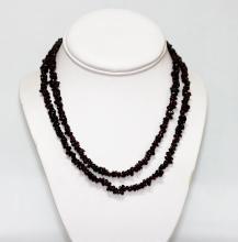 270.01 CTW Natural Un-cut Beaded Garnet Necklace #49304v1